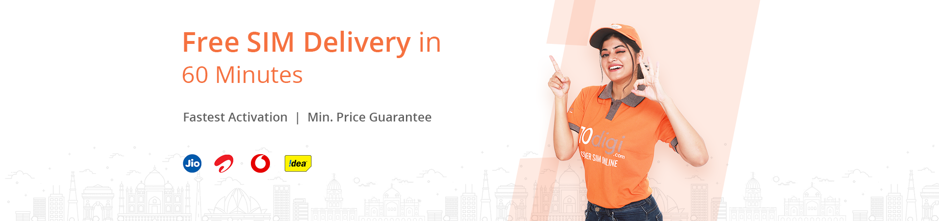 Free SIM Delivery in 60 Minutes